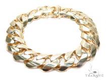 Miami Cuban Gold Bracelet 42384 Gold Mens Bracelets