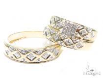 Prong Diamond Engagement Couple Ring Set 42383 Engagement