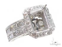 Invisible Diamond Engagement Semi Mount Ring 42448 エンゲージメント
