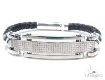 Prong Diamond Stainless Steel Bracelet 42454 Silver