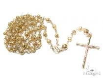 Prong Gold Rosary Chain 30 Inches 5mm 17.40 Grams 42485 Gold Chains