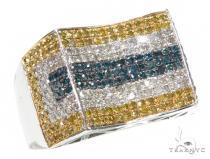 Prong Colored Diamond Ring 42466 マルチカラー ダイヤモンド リング