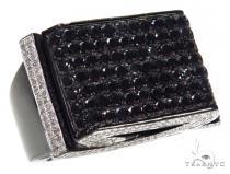 Prong Black Diamond Ring 42469 Mens Black Diamond Rings