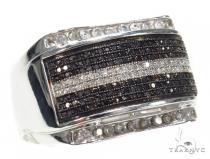 Prong Black Diamond Ring 42470 Mens Black Diamond Rings