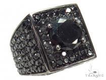 Prong Black Diamond Ring 42479 メンズ ブラックダイヤモンド リング
