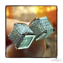 Cube Diamond Earrings 42519 Stone