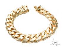 Miami Cuban Gold Bracelet 42556 Gold Mens Bracelets