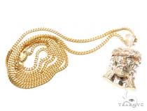 Jesus Diamond Gold Pendant 42583 ゴールド チェーン