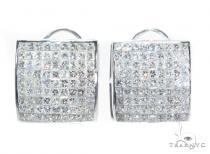 Invisible Diamond Earrings 42561 Mens Diamond Earrings