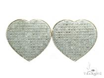 Heart Diamond Earrings 42563 Stone