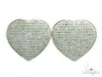 Heart Diamond Earrings 42564 Stone