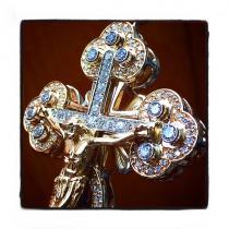Diamond Christ The Savior Cross メンズ ダイヤモンド クロス
