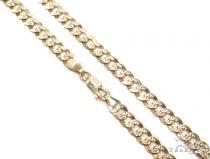Cuban/Curb Gold Chain 22 Inches 6mm 23 Grams 42674 Gold