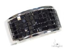 Invisible Black Diamond Ring 42712 Mens Black Diamond Rings