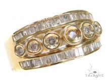 Bezel Diamond Ring 42714 Mens Diamond Rings