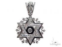 Diamond Star of David Pendant 42790 Metal