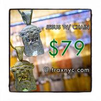 Jesus Silver Pendant 24 Inches 2mm 17.9 Grams Chain Set 42780 Style