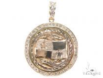 Panama Flag Diamond Pendant 42917 Metal