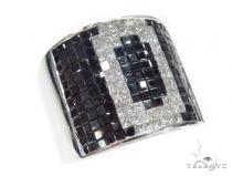 Invisible Black Diamond Ring 42742 Mens Black Diamond Rings