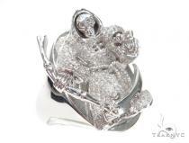 Skull  Diamond Ring 42763 Mens Diamond Rings