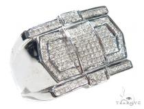 Prong Diamond Silver Ring 42824 Metal