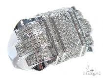 Prong Diamond Silver Ring 42828 Metal