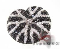 Black and White Diamond Cushion Ring レディース ダイヤモンド リング
