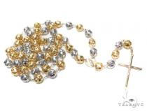 14k Gold Rosary Chain 36 Inches 10mm 60 Grams 43016 Gold
