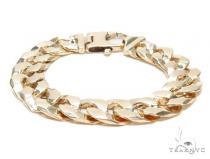 Cuban/Curb Gold Bracelet 43114 Gold Mens Bracelets