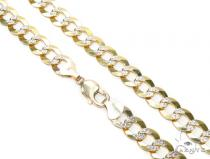 10k Gold Cuban/Curb Gold Chain 34 Inches 12mm 91.9 Grams 43109 Gold