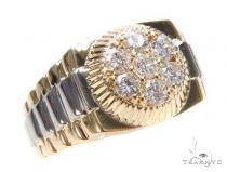 Diamond Timepiece Ring 43325 Mens Diamond Rings