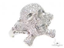 Prong Diamond Skull Pinky Ring 43614 ピンキーリング