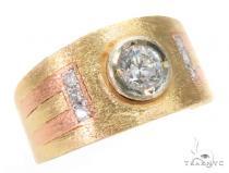 Bezel Diamond Gold Ring 43703 Mens Gold Rings