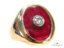 14k Yellow Gold Ring 43744 Mens Gold Rings