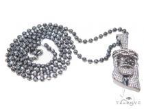 Jesus Moon Cut Silver Chain 43361 Silver