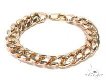 Hollow Miami Cuban Gold Bracelet 43583 Gold Mens Bracelets
