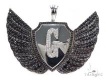 G Eagle Diamond Pendant 43562 Metal