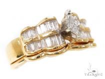 Channel Diamond Wedding Ring Set-40095 ダイヤモンド 婚約 結婚指輪