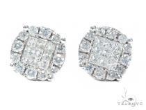Prong Diamond Earrings 42568 Stone