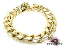 Miami Cuban Link Bracelet 9 Inches 16mm 164.6 Grams 43374 Gold