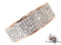 Mens Rose Gold Pave Diamond Ring 44205 Stone