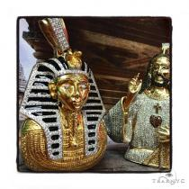 King Tut Diamond Pendant Metal