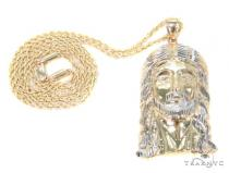 10k Yellow Gold Jesus Rope Chain 44173 Gold