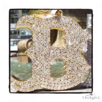 Prong Diamond Initial 'B'  Pendant 42994 ダイヤモンド イニシャルペンダント