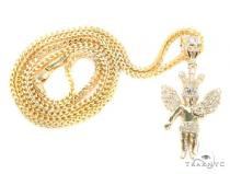10k Yellow Gold Crown Angel Franco Chain 44252 Gold