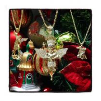 10k Yellow Gold Crown Angel Franco Chain 44203 Gold