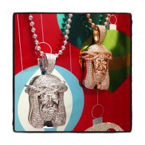 Jesus Sterling Silver Pendant 41663 Metal