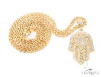 10k Yellow Gold Hamsa Franco Chain 44289 Gold