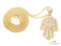 10k Yellow Gold Hamsa Franco Chain 44288 Gold