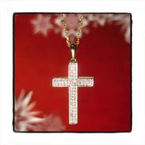 Prong Diamond Cross Necklace 44310 TraxNYC Gift Guide